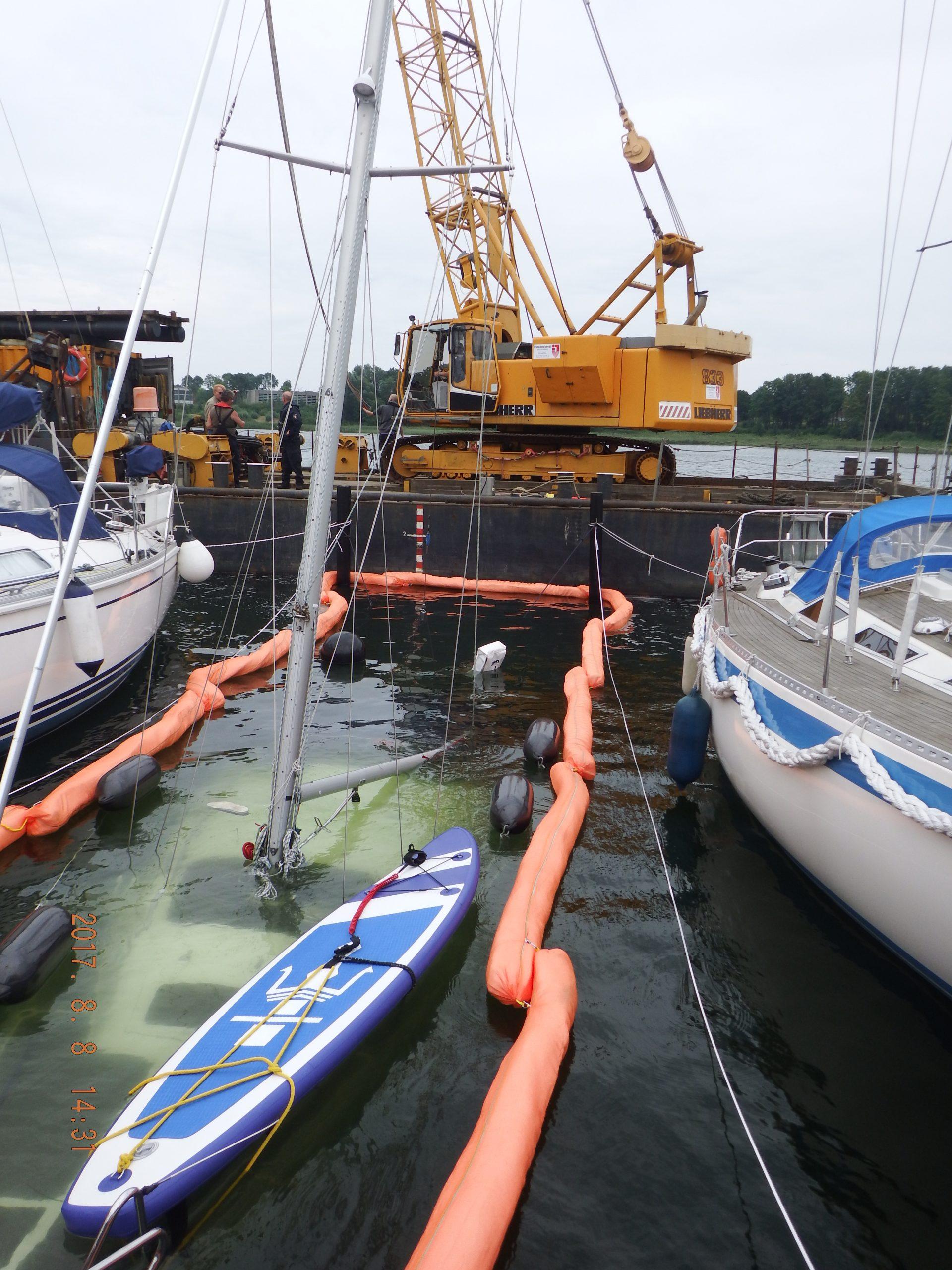 Segelboot Bergung